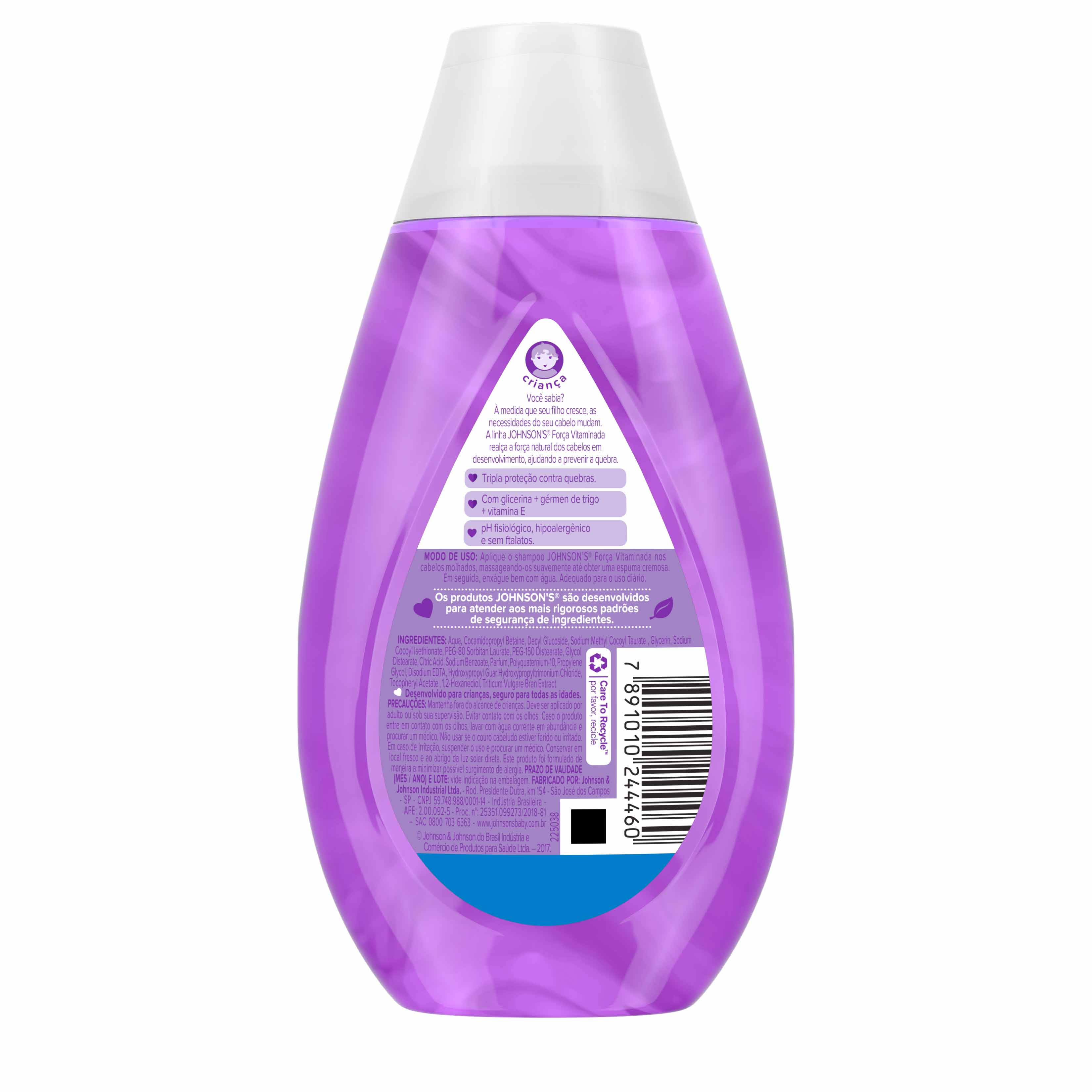 Johnson's® Shampoo Força Vitaminada