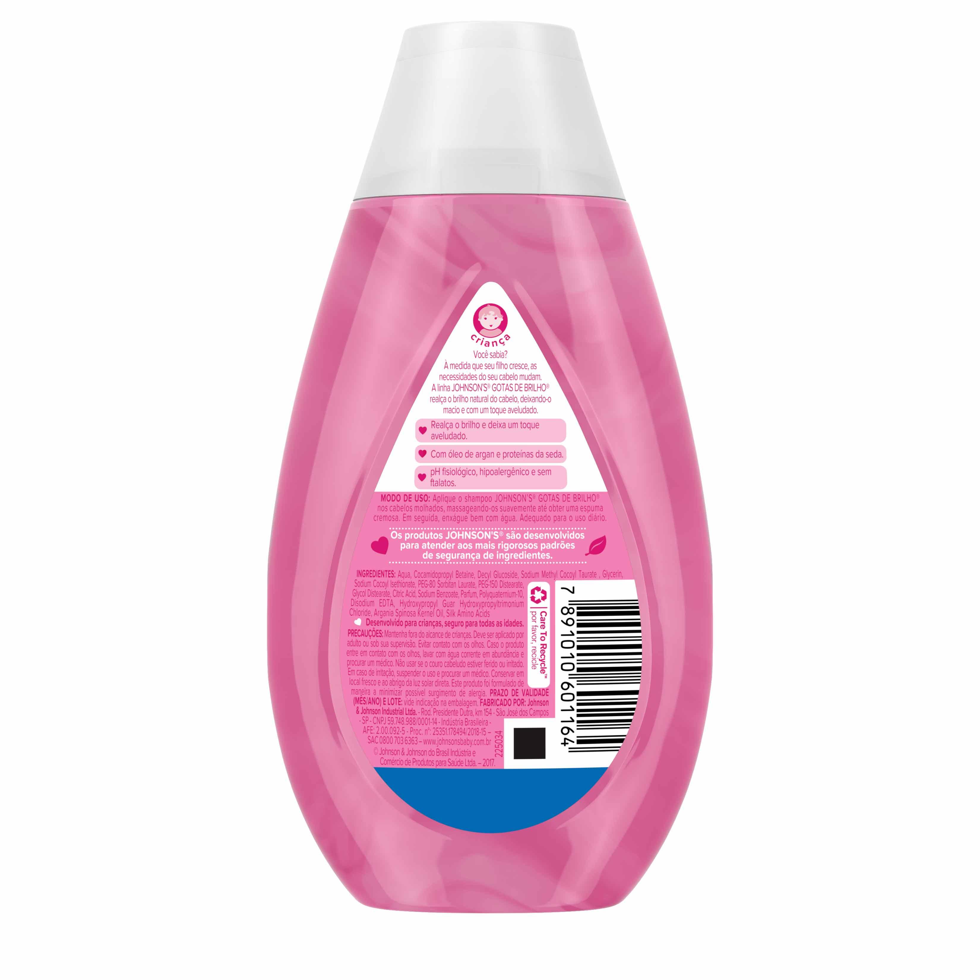 Johnson's® Shampoo Gotas de Brilho