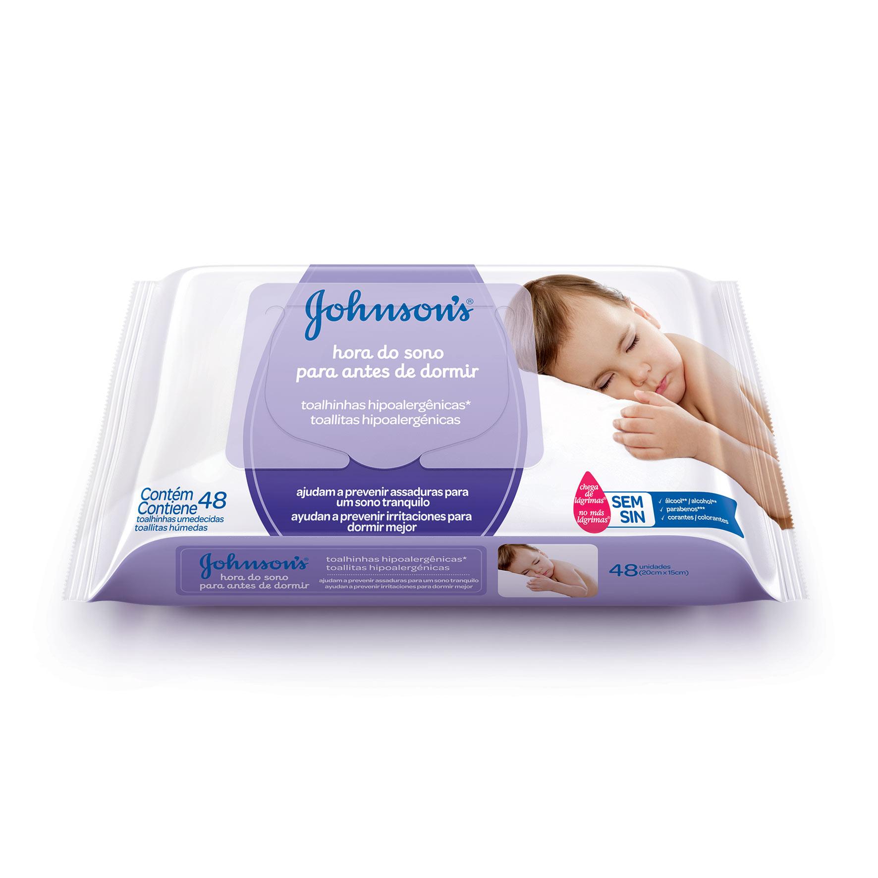 Johnson's® Toalhinhas Hipoalergênicas Hora do Sono