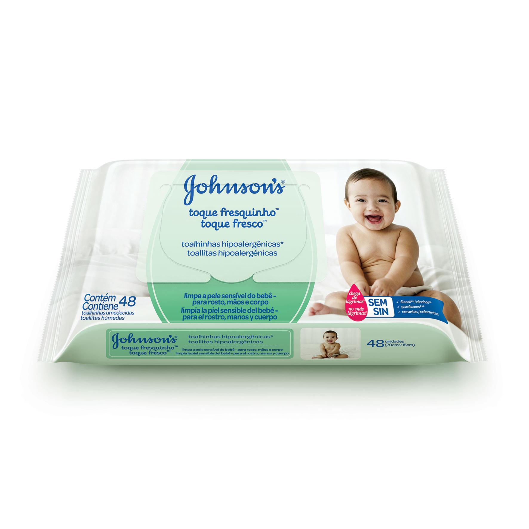Johnson's® Toalhinhas Hipoalergênicas Toque Fresquinho