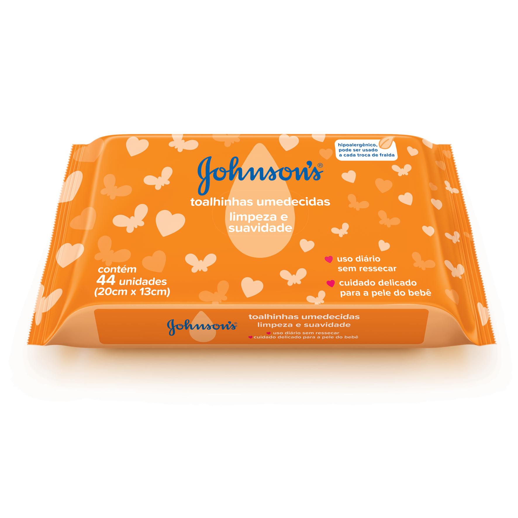 Johnson's® Toalhinhas Hipoalergênicas Limpeza e Suavidade