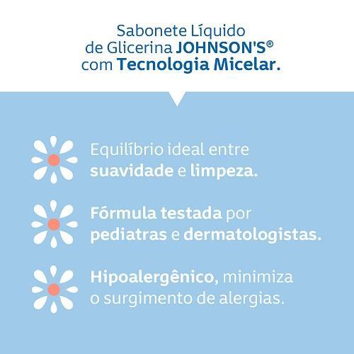 Sabonete Líquido  JOHNSON'S® de Glicerina tecnologia micelar