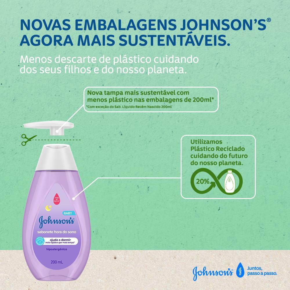 JOHNSON'S® Sabonete Líquido Hora Do Sono Sustentável