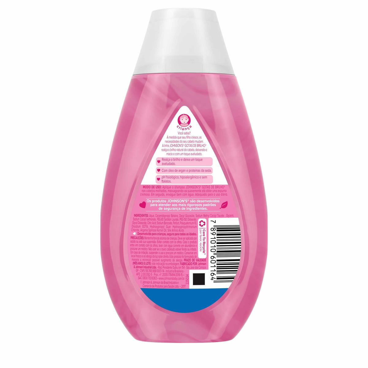 Johnson's® Shampoo Gotas de Brilho