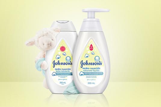 Produtos Jhonson's linha recém-nascido