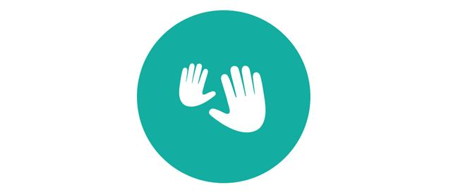 Ícone de mãos - massagem no recém-nascido