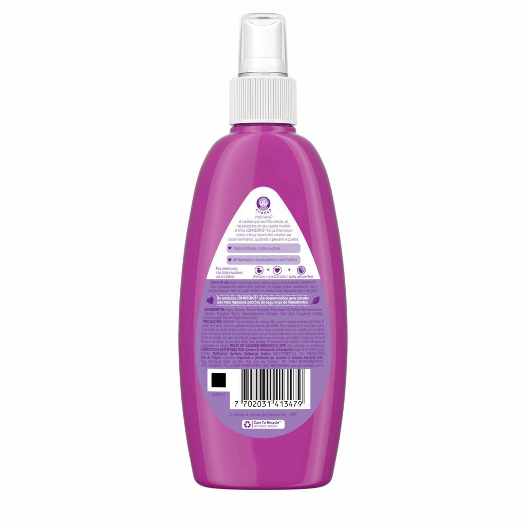 JOHNSON'S® Spray Finalizador Força Vitaminada